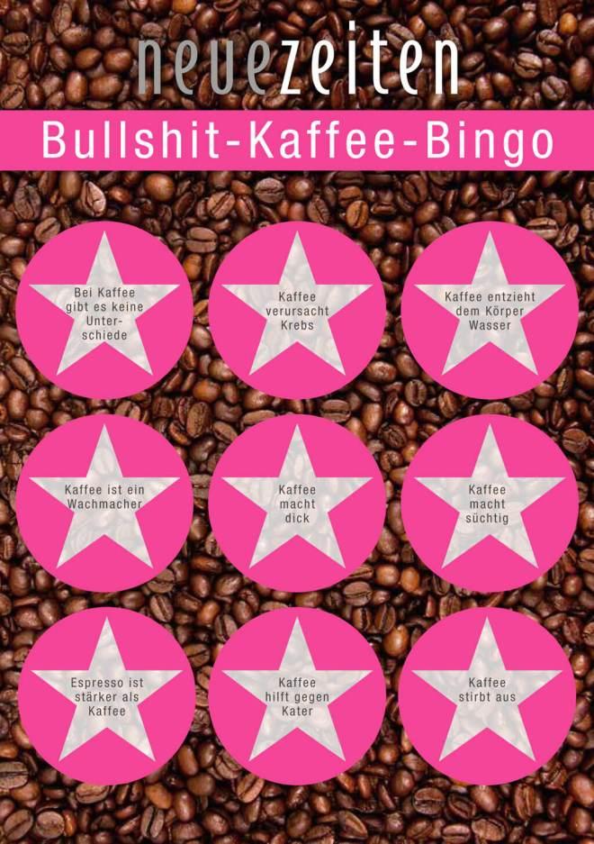 Bullshit-Kaffee-Bingo