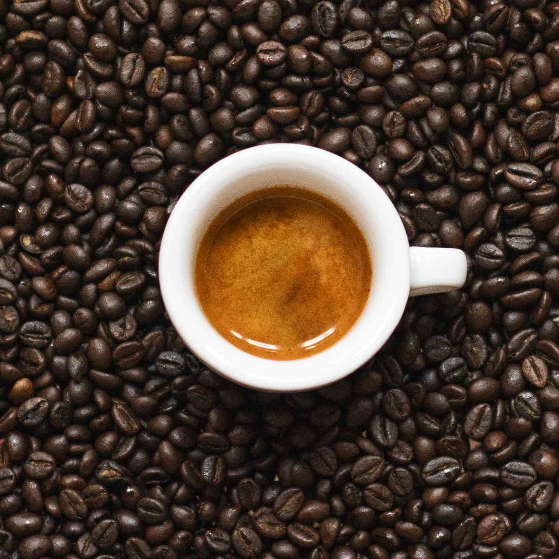 Robusta Kaffee, mit einer satten Crema