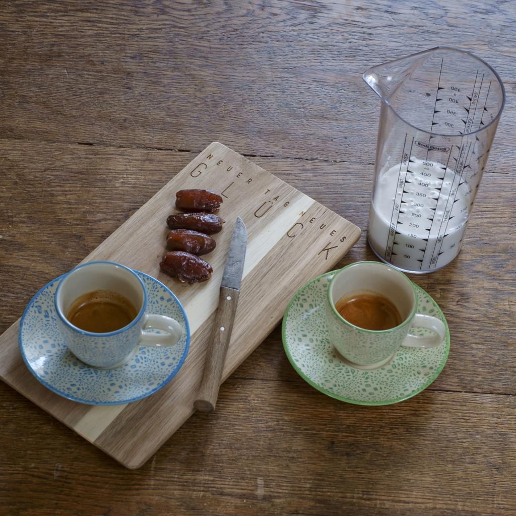 Thai Latte Eiskaffee - die Zutaten