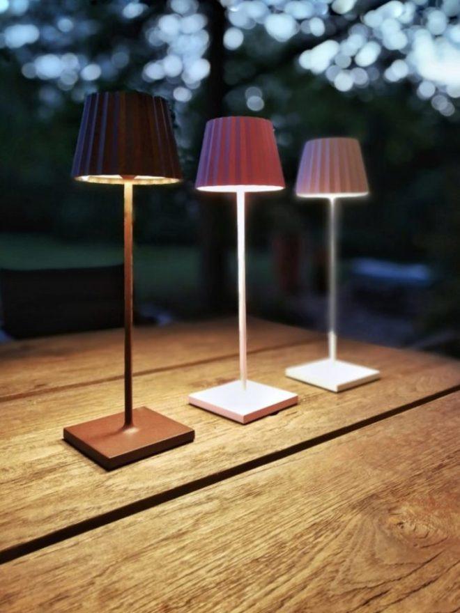 Sompex Troll Leuchte outdoor Ambiente Tisch
